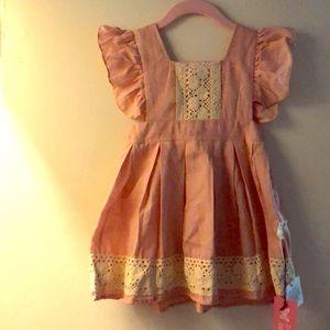 100%. Cotton adorable dress